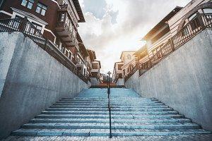Staircase in urban settings