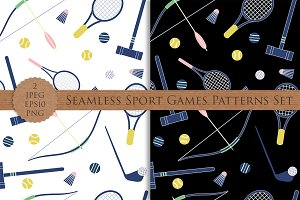 Vector seamless sport games pattern