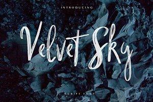 Velvet Sk Brush Font