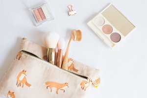 Makeup Flatlay for Beauty Bloggers