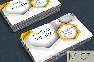 Geometric yellow business card