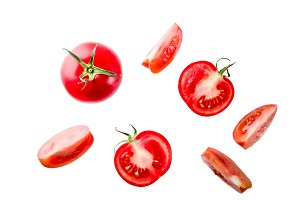 Raw red tomatoes