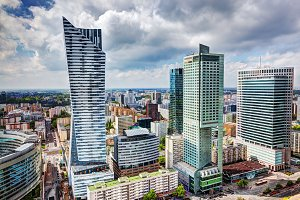 Aerial view on Warsaw, Poland