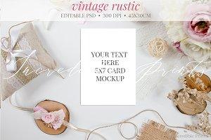 Rustic Vintage Invitation Mockup
