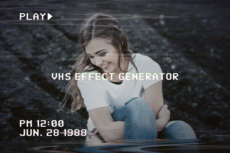 VHS Image Effect Generator ~ Photoshop Add-Ons ~ Creative Market