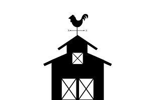 Illustration of farming logo