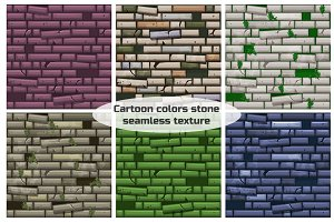 seamless texture different colored old stone wall