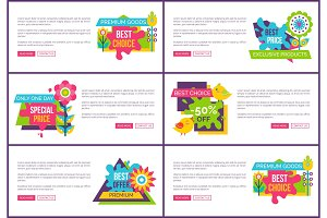 Best Sale with Huge Discount Promotional Banners