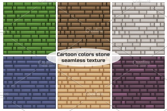 seamless texture different color stone wall