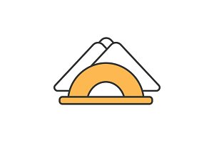 Table napkins color icon