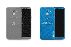 Samsung Galaxy J6 Vinyl Skin Mockup