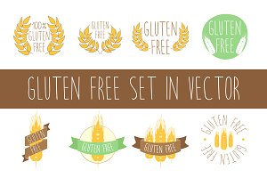 Gluten free set in vector