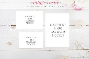 Rustic Invitation Mockup