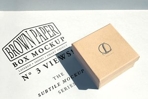 Brown Paper Box Mockup