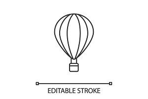 Hot air balloon linear icon
