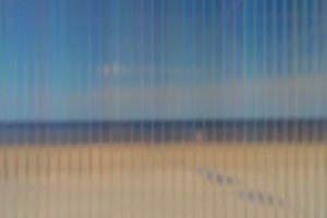 Sea through corrugated plastic sheet