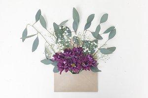 Rustic Farmhouse Floral Envelope