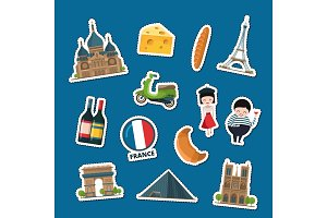 Vector France sights stickers