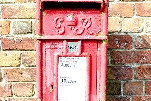 Old Royal Mail Red Post Box