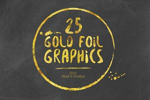 25 Gold Foil Hand Crafted Graphics