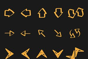 Arrow doodles illustration icons