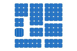 Blue Solar Cell Panel Set