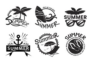 Summer break typography illustration