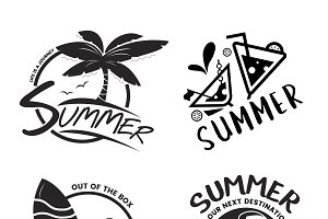 Summer break illustration typography