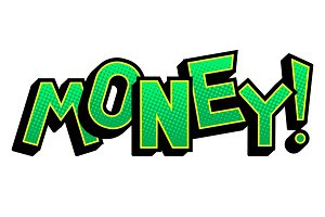 Money word comic book pop art vector illustration