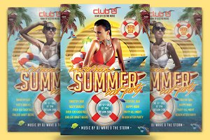 Summer Boat Party Flyer Template