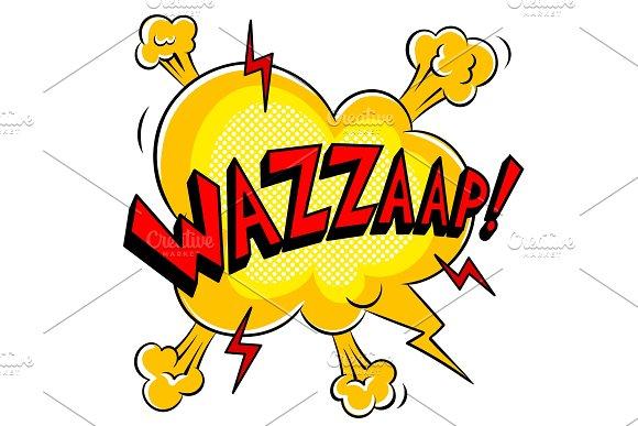 Wazzaap word comic book pop art vector