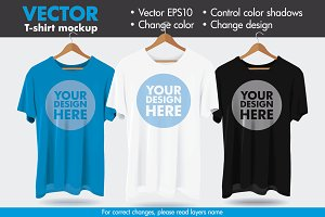 Vector Hanger Tshirt Mockup Template