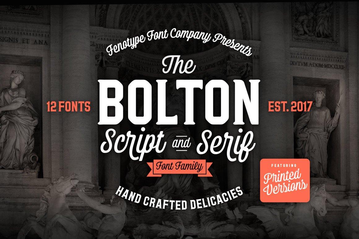 Download Bolton Font Pack -25% off sale ~ Script Fonts ~ Creative ...