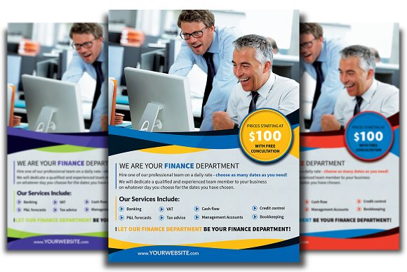 Finance Department Flyer Template in Flyer Templates