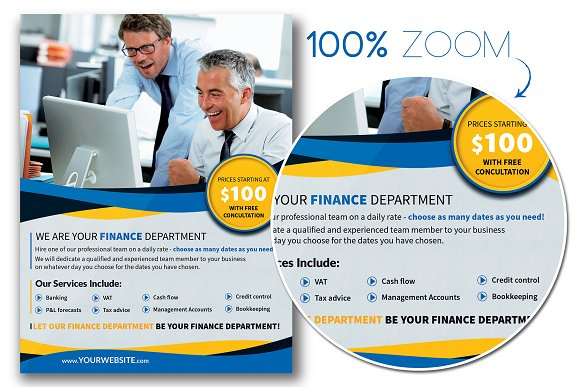 Finance Department Flyer Template in Flyer Templates - product preview 1