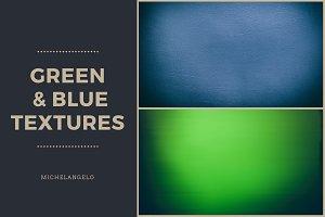 11 Blue & Green Grunge Textures
