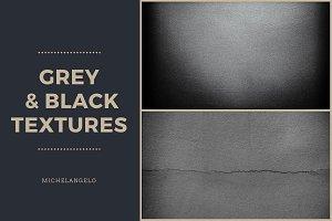 9 Grey & Black Grunge Textures