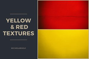 7 Yellow & Red Grunge Textures