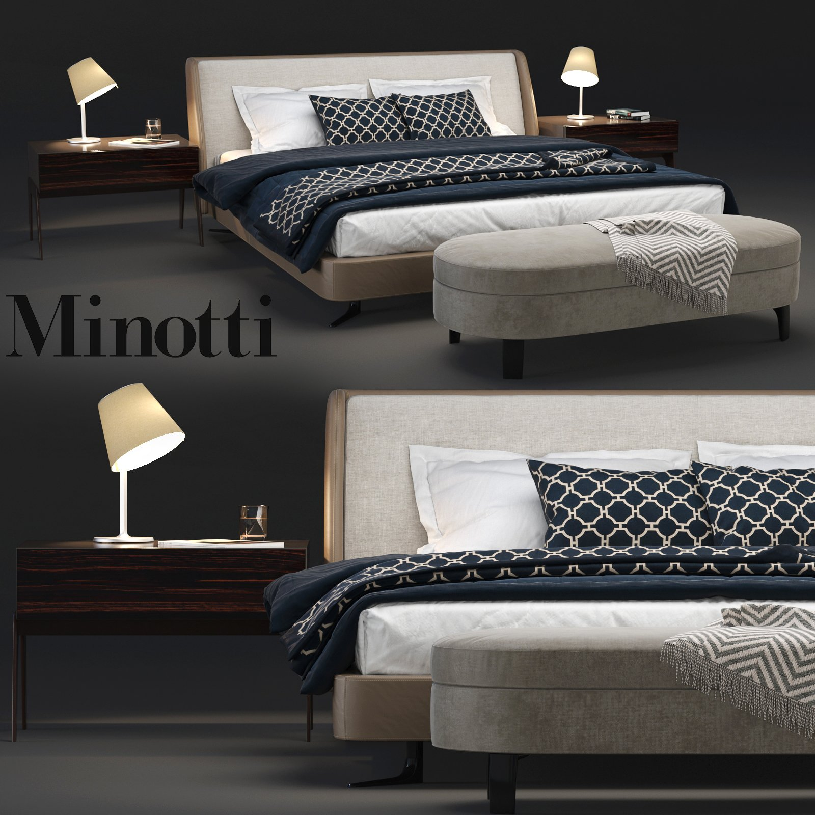 Minotti Spencer Bedroom Set High Quality 3ds Max 3d Models Creative Market
