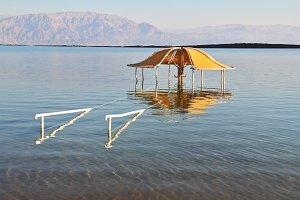 Solar beach on the Dead Sea