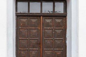 Front view closed door