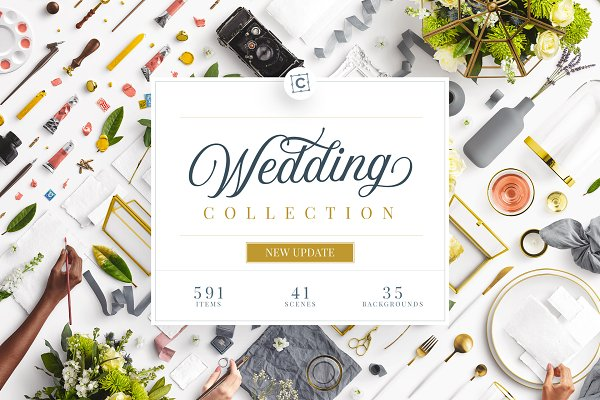 Product Mockups: Custom Scene - Wedding Mockup Scene Creator Bundle