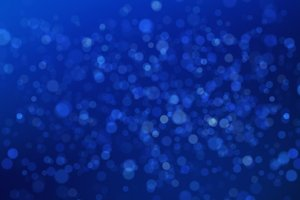 Abstract blue bokeh blurry background for technology concept, 3d illustration