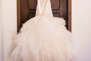 Beautiful Beaded Lace Wedding Gown