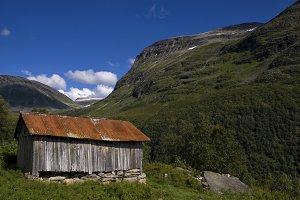 Mountain shed near Geiranger