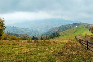 Autumn Carpathian mountains, Ukraine