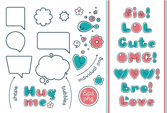 Bubble Double Duo font. Comic in Display Fonts - product preview 2