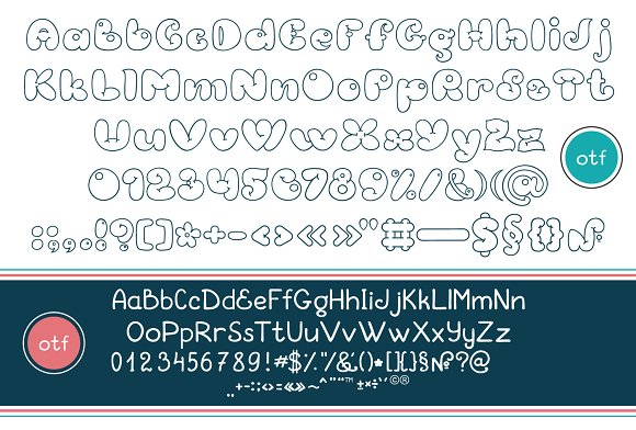 Bubble Double Duo font. Comic in Display Fonts - product preview 4
