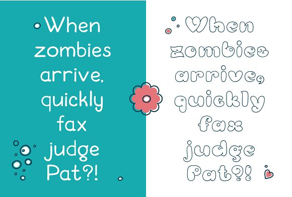 Bubble Double Duo font. Comic in Display Fonts - product preview 5