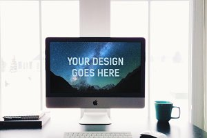 iMac Display Mock-up #11